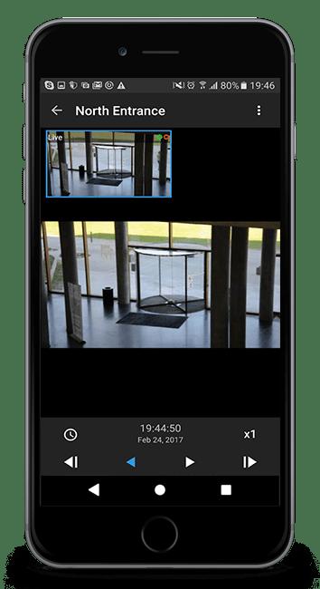 Milestone Mobile - Kameraovervåking App